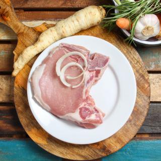 Karbonade mit Knochen ca. 450 g Wulksfelde