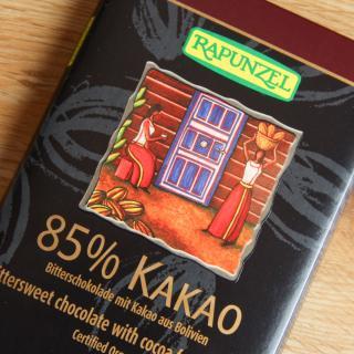 Bitterschokolade 85 %  80 g