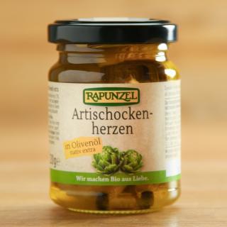Artischockenherzen in Olivenöl 120 g