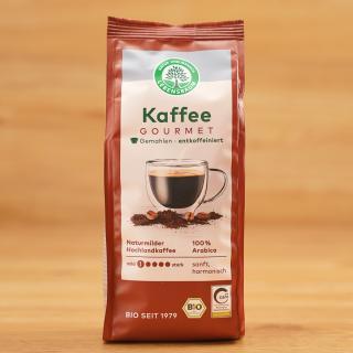 Gourmet-Kaffee gemahlen, entkoffeiniert