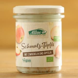 Schmalz-Töpfle Zwiebeln und Äpfeln vegan