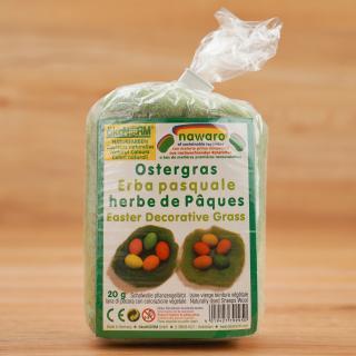 Ostergras pflanzengefärbte Schafwolle