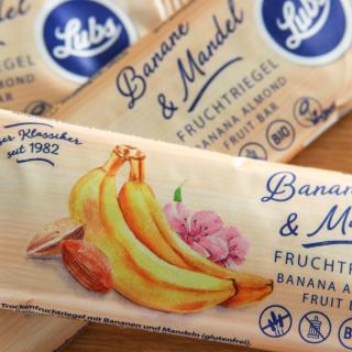 Fruchtschnitte Banane-Mandel gf  40 g