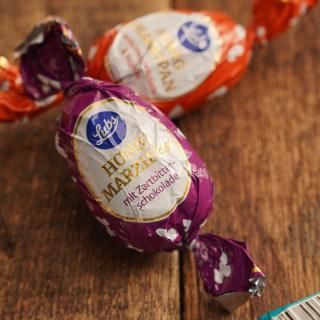 Honigmarzipanei Zartbitterschokolade