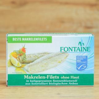 Makrelenfilets o. Haut + Gräten++