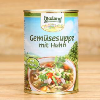 Gemüsesuppe mit Huhn 400 g