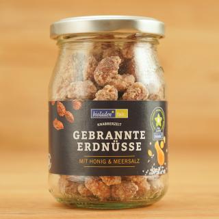 gebrannte Erdnüsse mit Honig & Salz im Glas