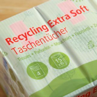 Taschentücher Recycling soft 15x10