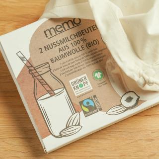 Nussmilchbeutel aus Biobaumwolle 2er Set