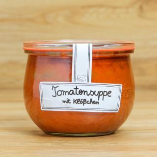 Glas Tomatensuppe m. Fleischkl. 400 ml
