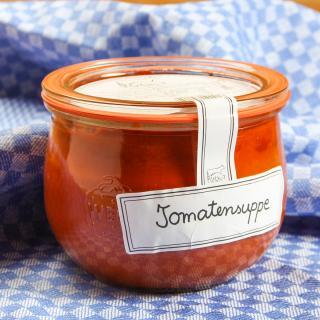 Glas Tomatensuppe rein vegetarisch 400ml