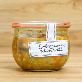 Glas Erbsensuppe mit Wursteinlage 400 ml