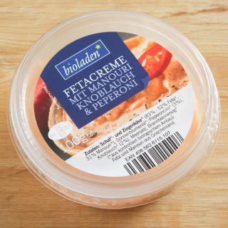 Fetacreme Manouri-Knobi-Peperoni 100 g