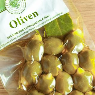 Grüne Oliven mit Mandeln 150 g
