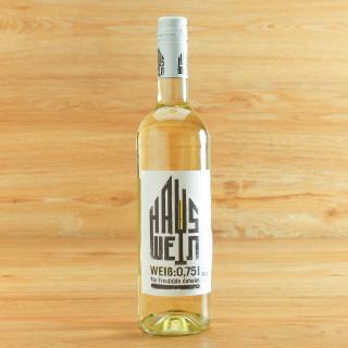 Hauswein weiß halbtr. 0,75 l AchtGrad