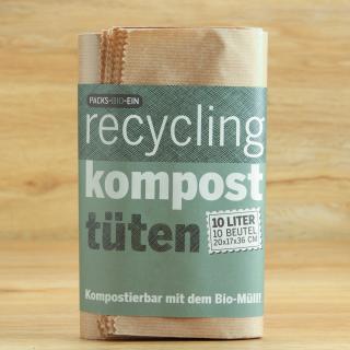 Biomüll-Beutel kompostierbar 10 Stck