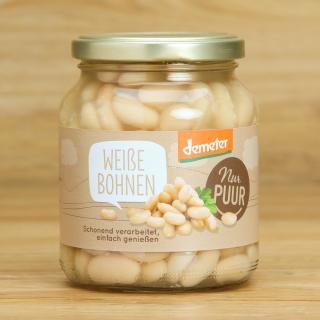 Bohnen weiß im Glas 350 g