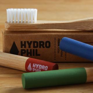 Zahnbürste mittel grün Bambus