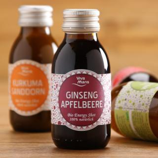 Energy Shot Ginseng & Apfelbeere