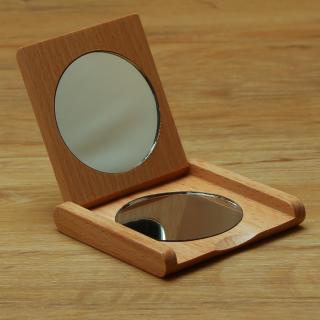 Taschenklappspiegel Holz