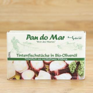 Tintenfischstücke in Bio-Olivenöl 120g++