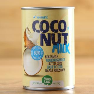 Kokosmilch 80% Kokosanteil TerraSana 400 ml